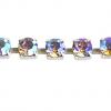 Rhinestone Chain SS29 Silver Crystal Aurora Borealis